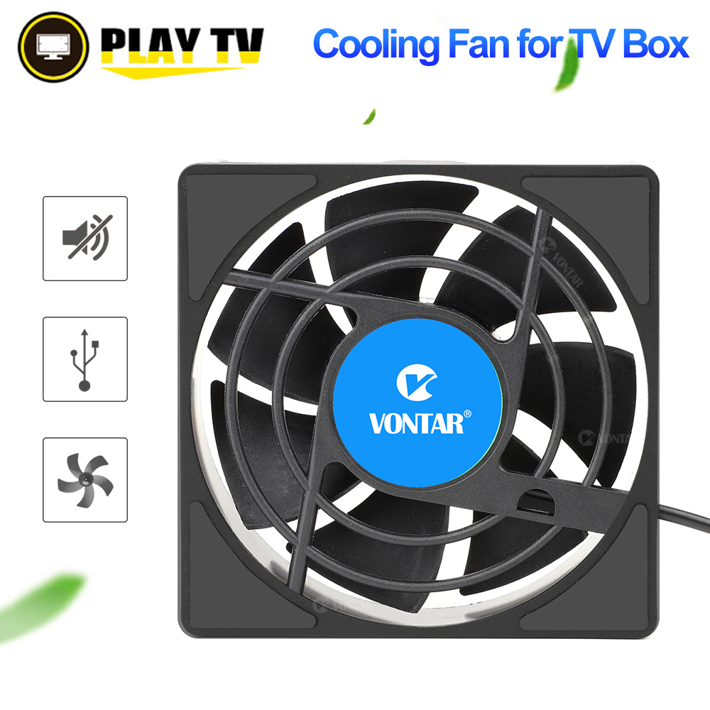 VONTAR C1 Cooling Fan for Android TV Box H96 Max X3 HK1 TX6 Set Top Box Wireless Silent Quiet Cooler USB Power Radiator Mini Fan