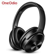 سماعات رأس Oneodio A9 تعمل بالبلوتوث ستيريو 33dB سماعات أذن بخاصية إلغاء الضوضاء النشطة مزودة بميكروفون 30h سماعة رأس لا سلكية وقت اللعب فوق الأذن