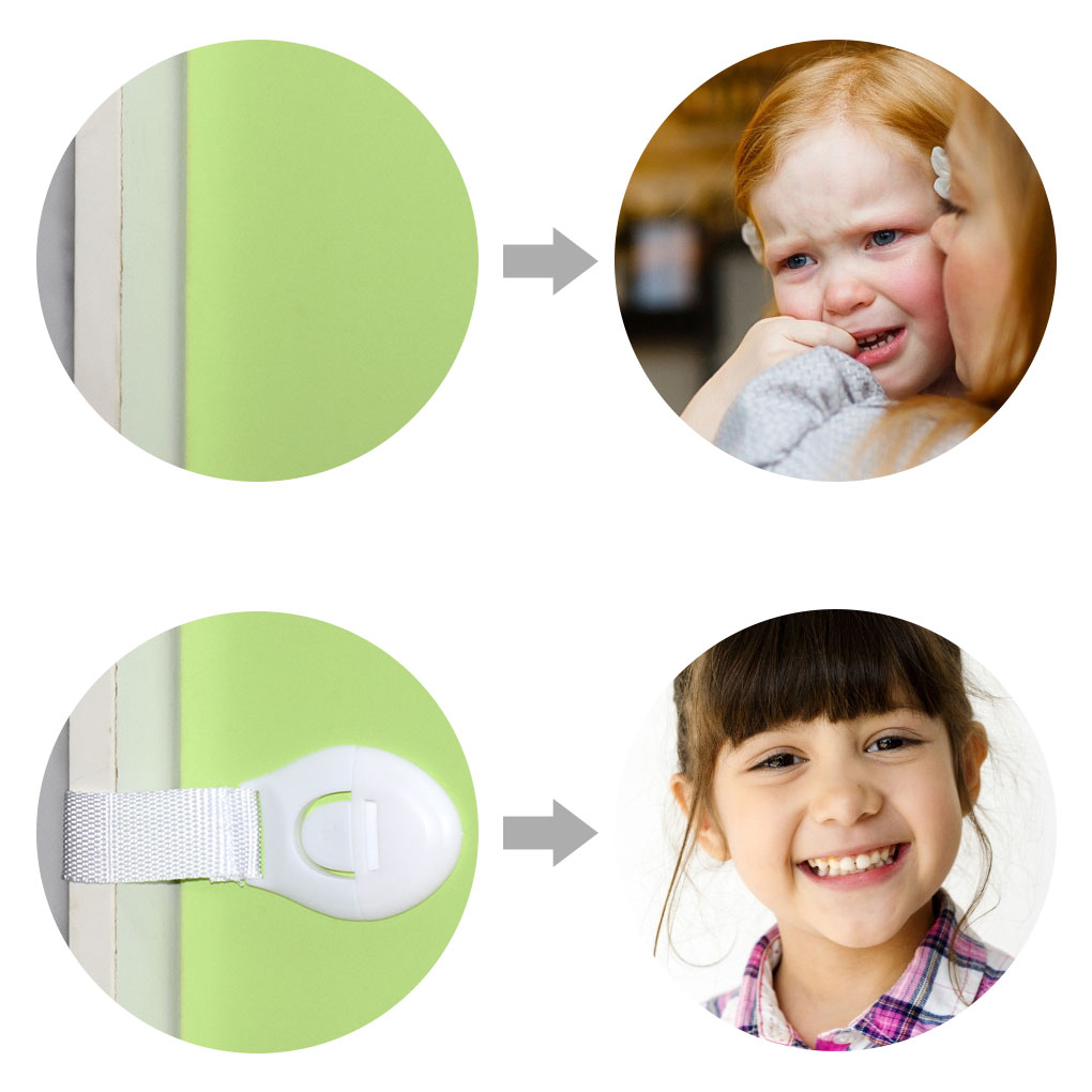 Baby Infant Safety Door Drawer Locks Finger Safe Protector Kids Safety Plastic Protection Safety Lock