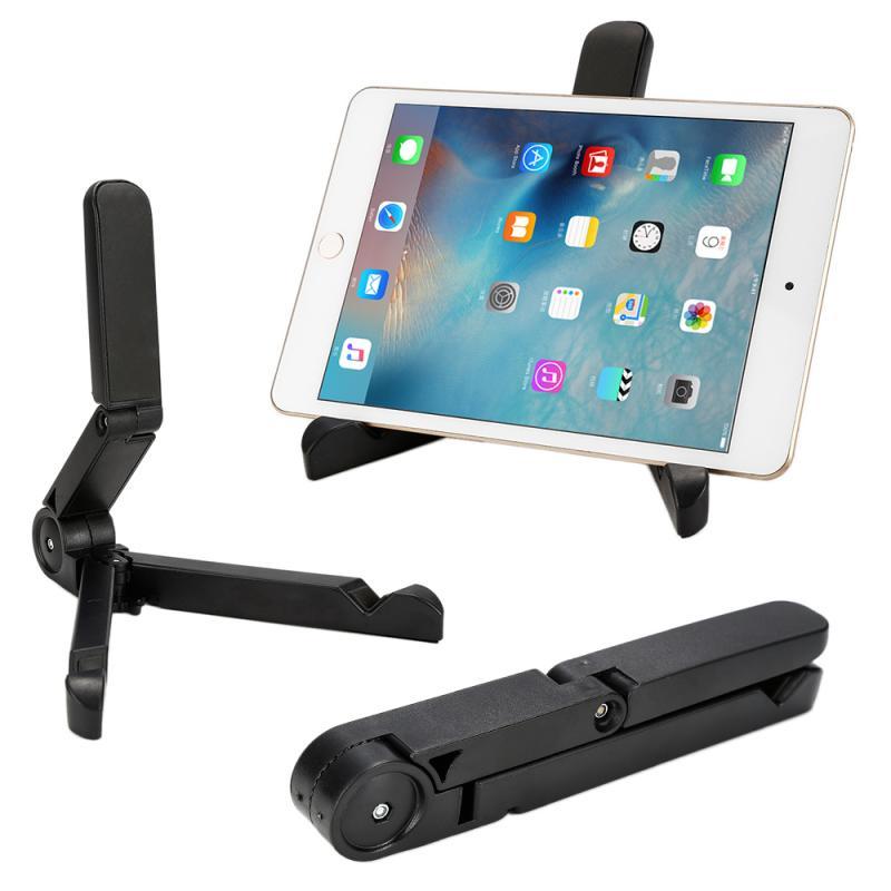 Universal dobrável telefone tablet suporte ajustável desktop suporte de montagem tripé mesa suporte para iphone ipad mini ar 6