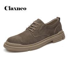 Мужская обувь повседневная 2020 Осенняя замшевые кожаные оксфорды