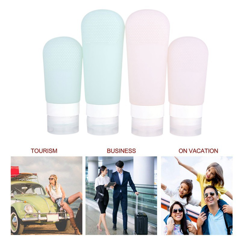 Silicone Refillable Containers Leakproof Easy To Carry Markable Travel Bottles For Shampoo Lotion Soap Product