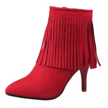 2020 WomenS Shoes High Heels Boots Women Heel Ankle Bare Flock Short Booties Woman Bota Feminina