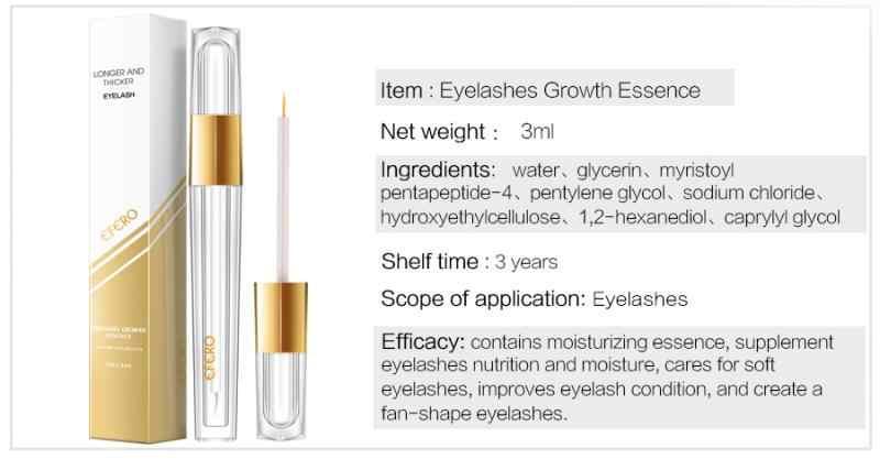 3ml Women Eyelash Rapid Growth Serum Eye Lashes Thickening Enhancer Liquid TSLM1