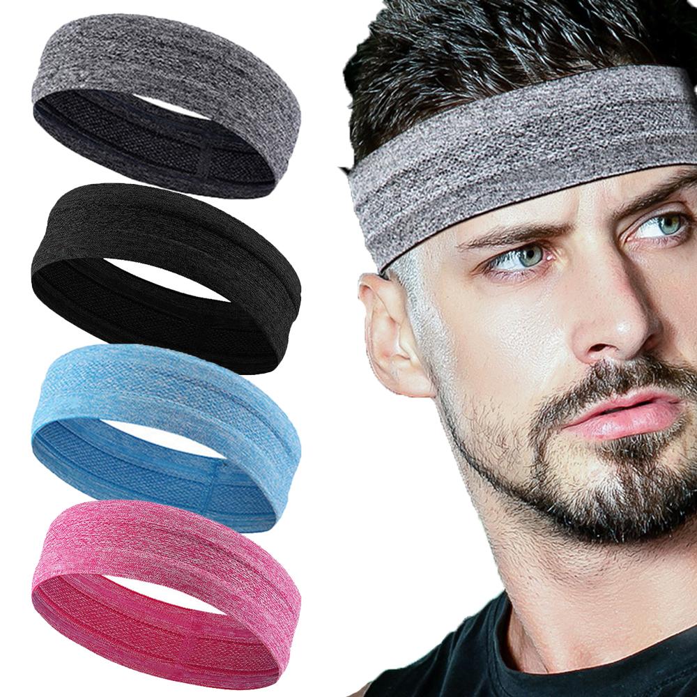Outdoor Sports Headband Portable Fitness Hair Bands Man Woman Hair Wrap Brace Elastic Cycling Yoga Running Exercising Sweatband