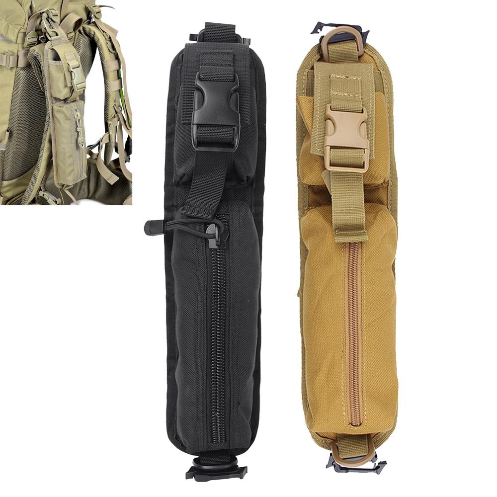 2Pcs Tactical Shoulder Strap Bag Molle Accessories Backpack Pouch