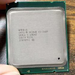 Intel Xeon E5 2689 E5-2689 LGA 2011 2.6G Hz 8 Core 16 Benang Prosesor CPU Cocok X79 Papan Utama