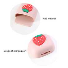Cute Wall Mount Remote Control Punch-free Storage Box Holder For Table Bedroom Wall Nightstand FL