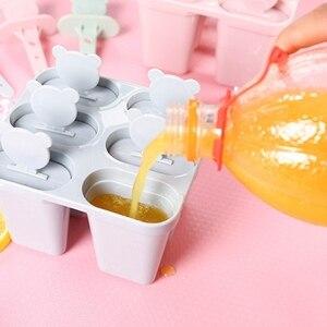 Домашний кубик льда Форма эскимо формочка для морозильника мороженого сковорода кухонная DIY замороженная присоска круглые квадратные сили...