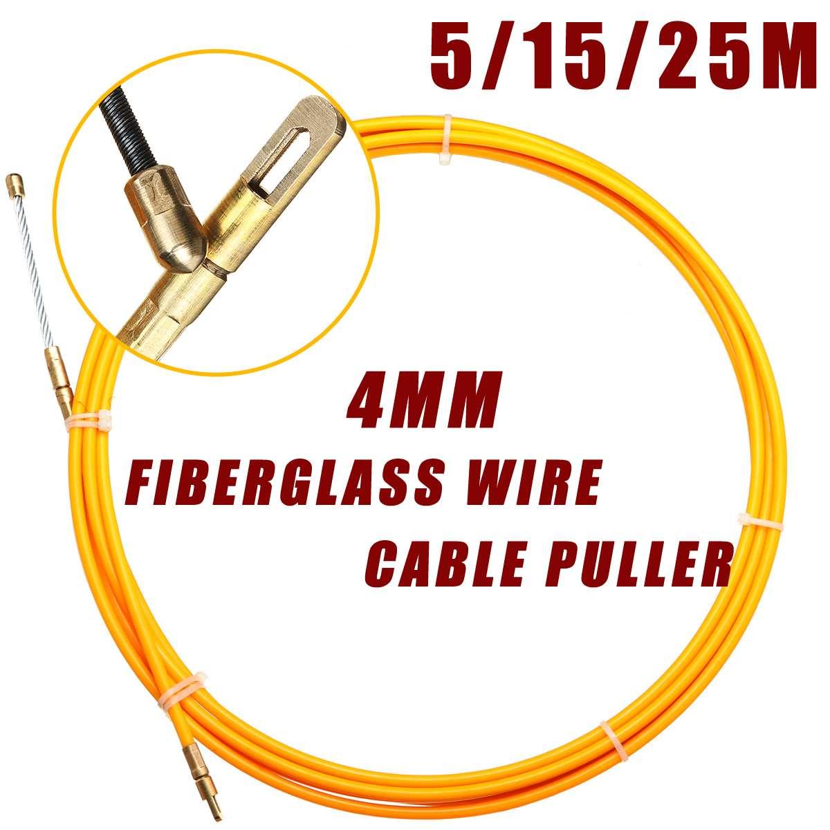 5 м/15 м/25 м 4 мм диаметр. Стекловолоконный Электрический кабельный Съемник рыболовная лента катушка проводник канальное устройство тяговое у...