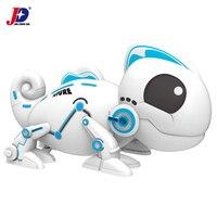 JXDA010 Infrared Remote Control Chameleon Intelligent Toys Robot Dinosaur For Children Kids Birthday Gift Funny Toy RC Animals