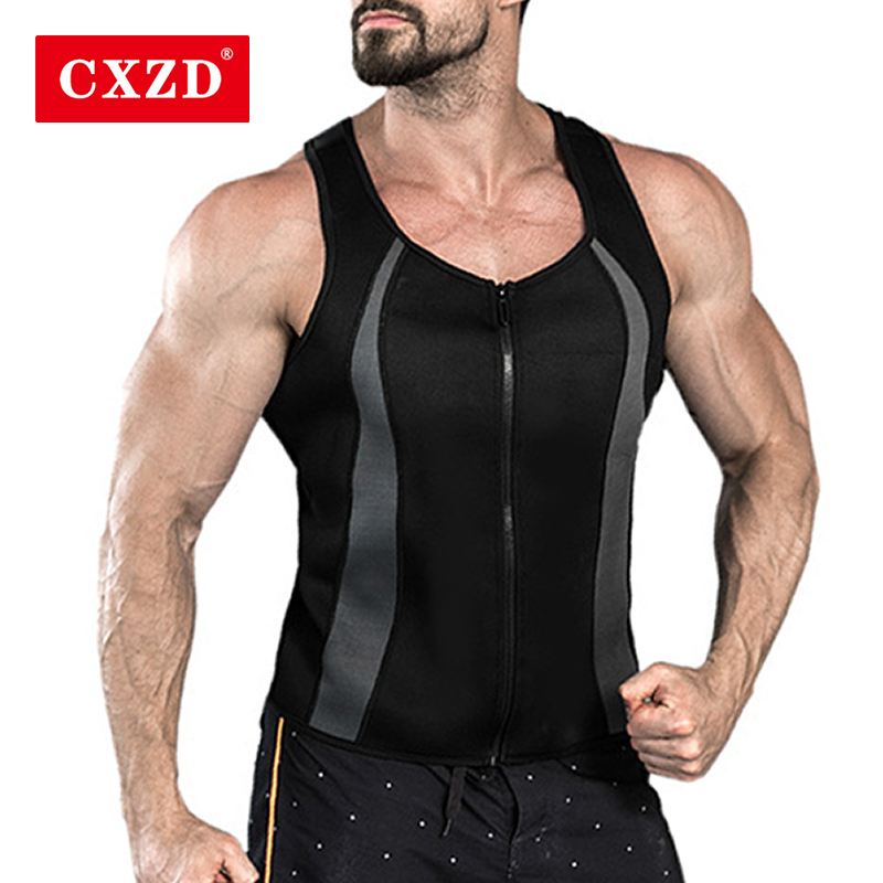 CXZD Slimming Belt Belly Men Slimming Vest Body Shaper Neoprene Abdomen Fat Burning Shaperwear Waist Sweat Corset Weight Loss