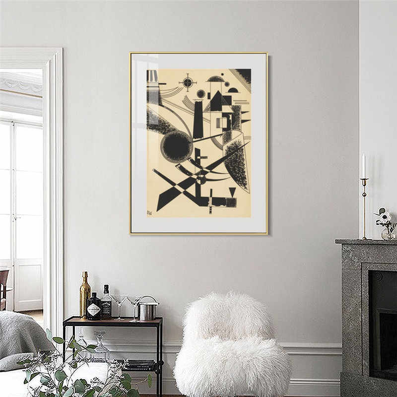 Lithographie No III By Wassily Kandinsky Painting on Canvas Posters and Prints Wall Art Pictures For Living Room Home Decor