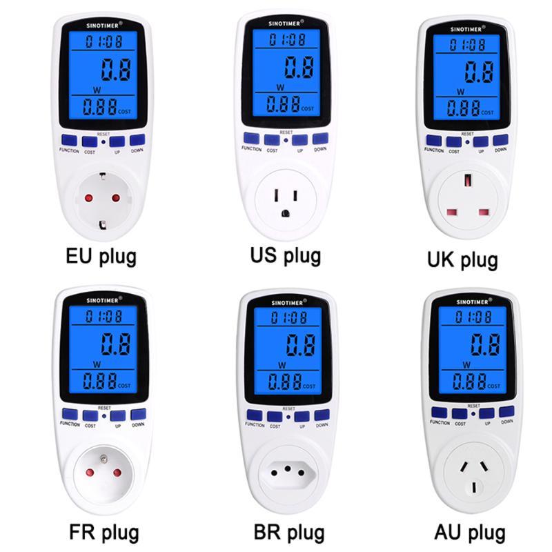 ЖК-подсветка отображение умного энергопотребления счетчик энергии мониторинг электричества ваттметр электрические инструменты