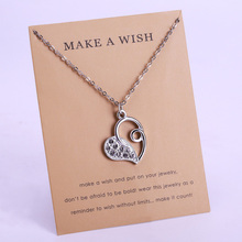 Heart Key Horse Star Jesus Balance Pendant Necklaces Best Friends Women Fashion Card Jewelry Christmas Gifts Drop Shipping