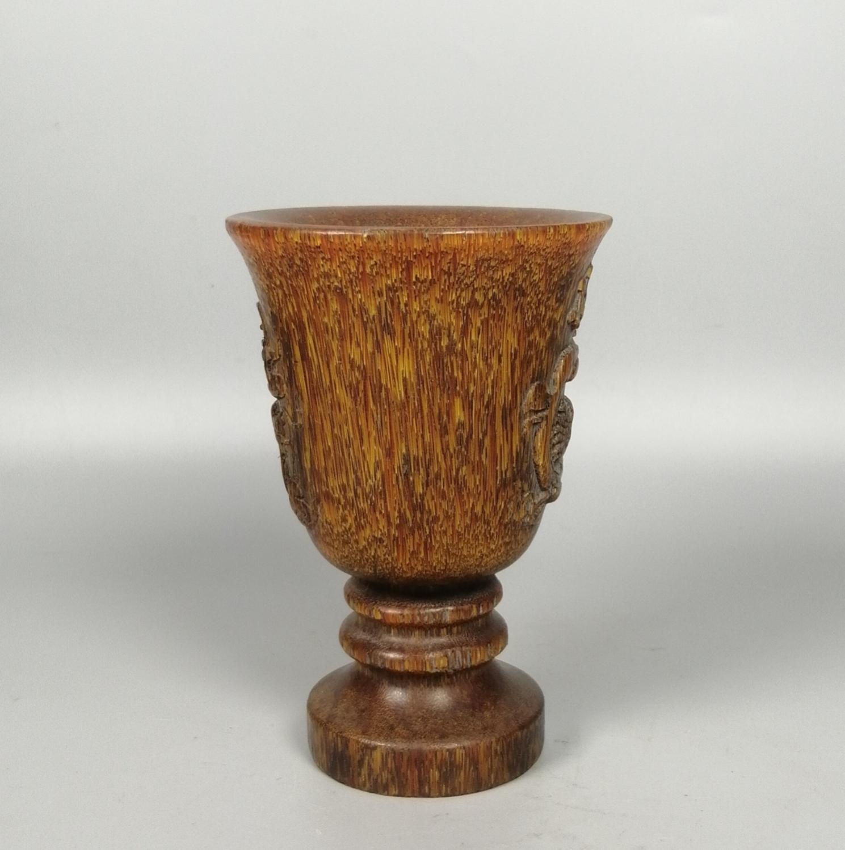 Vintage \u201cBone\u201d Natural Horn Trinket Box Hand Craved Brass