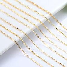 Chaîne bijoux couleur or collier pour femmes eau vague chaîne serpent os croix O chaîne lien cuivre 18 pouces collier pendentif