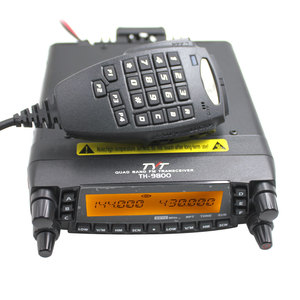 Image 3 - Rádio automotivo do caminhão do carro da faixa v/uhf do quadrilátero do repetidor da estação de rádio 50w do transceptor móvel de tyt th9800 TH 9800 com cabo