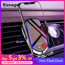 Essager 10W Qi Car Wireless Charger For iPhone 11 Pro Max MaIntelligent Infrared Fast Charging Mount Phone Holder