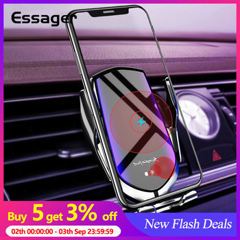 Essager 10W Qi Car Wireless Charger For iPhone 11 Pro Max MaIntelligent Infrared Fast Wireless Charging Mount Car Phone Holder