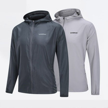 Hooded-Fitness-Jacket Running Workout Long-Sleeved Thin Autumn Outdoor Spring Men Plus-Size