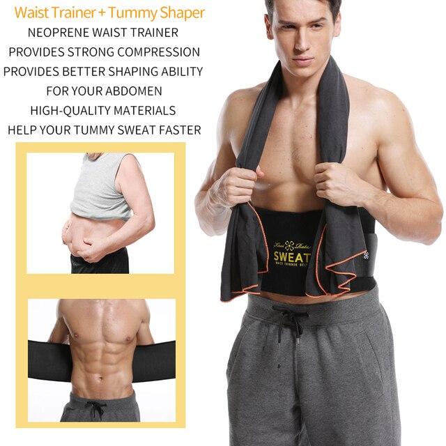 Men Waist Trainer Belly Shapers Abdominal Promote Sweat Body Shaper Slimming Belt Weight Loss Shapewear Trimmer Girdle Shapewear 2