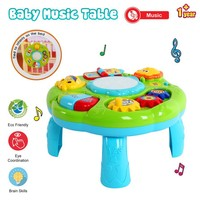 Early Learning Musical Table Toy 2 In 1 Table Piano Toy Electronic Education Activity Center Toys for Toddlers Interactive Toys