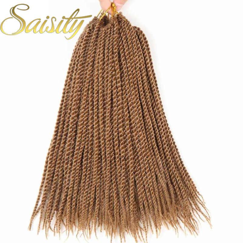 Saiaity senegalese twist crochet trenzas pelo extensión sintética crochet cabello trenzado jumbo africano crochet diosa locs