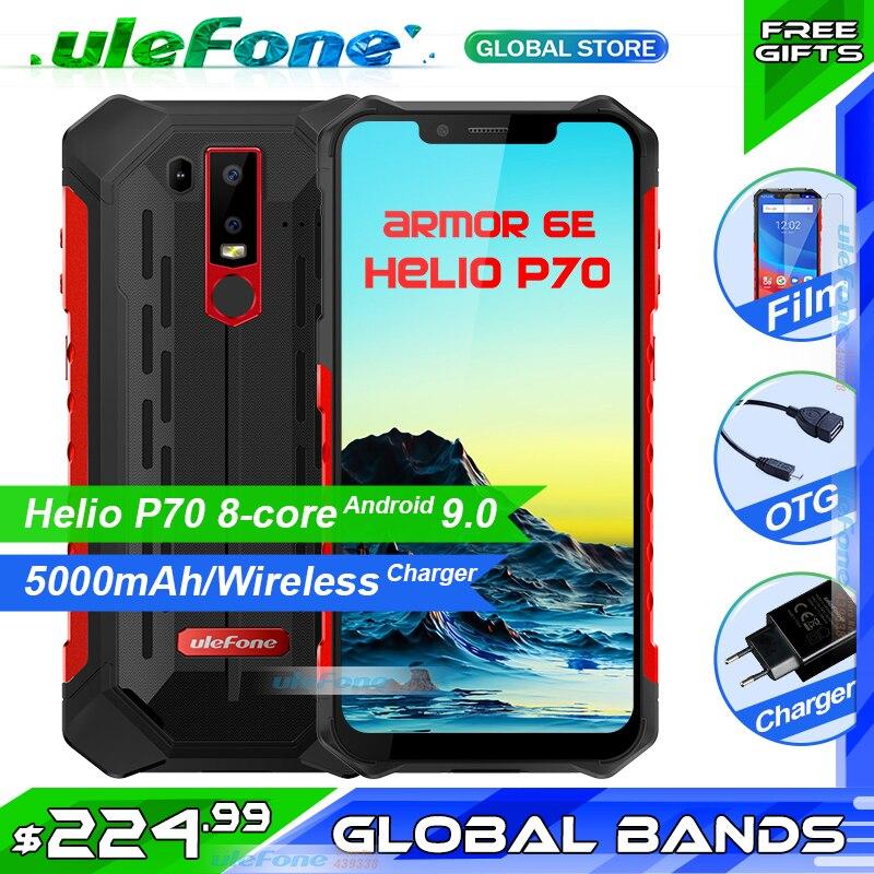 Ulefone Armadura 6E IP68 P70 4GB + 64 Helio Telefone Celular À Prova D' Água 6.2 GB