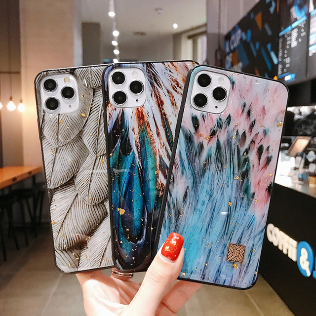 Chic Marble Gold Foil Phone Cases for iPhone 12 11 Pro Max XR X 8 7 6 Plus Glitter Soft Silicone Cover for iPhone XS Max SE 2020 2