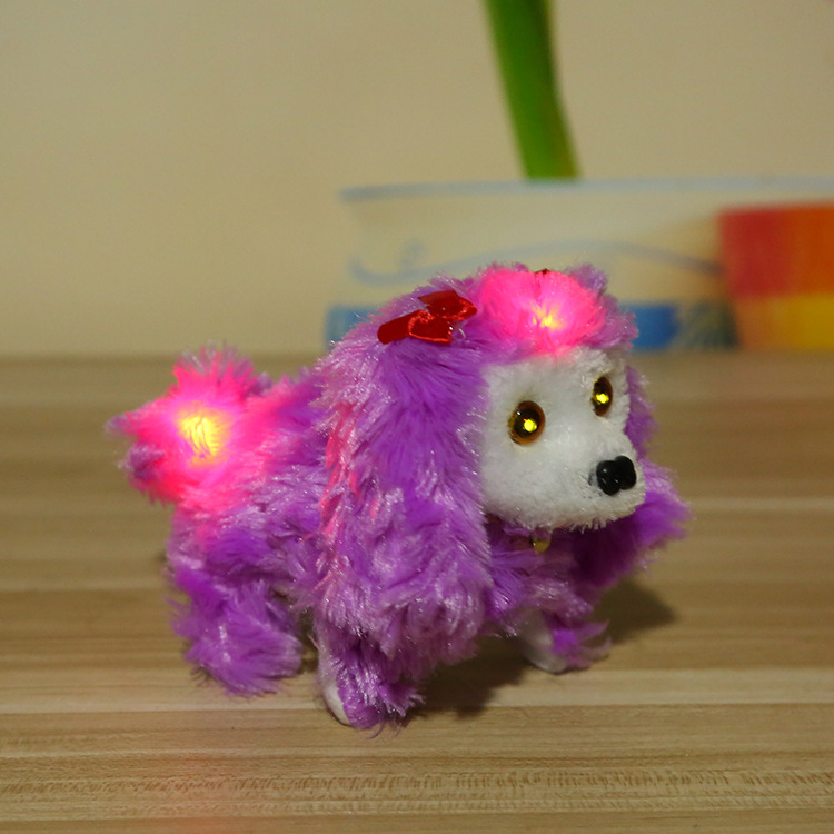 Plush Shining Forward Dao Tui Gou Hair Juxtaposition With Front And Back Lantern Called Electric Dog