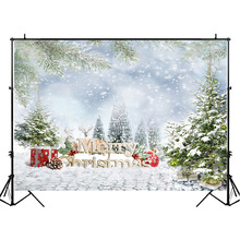 NeoBack Winter Christmas Party Backdrop Christmas Gift Elk Children Photography Backdrops Jungle Safari Snowflake Photo Backgrou plus size christmas elk snowflake jacquard leggings