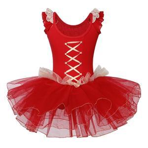 Image 2 - BAOHULU בנות בלט ריקוד טוטו שמלת מזרחי אלמנט בגד גוף ביצועים התעמלות בגד גוף אדום צבע עבור 3 ~ 7 שנים בלרינה