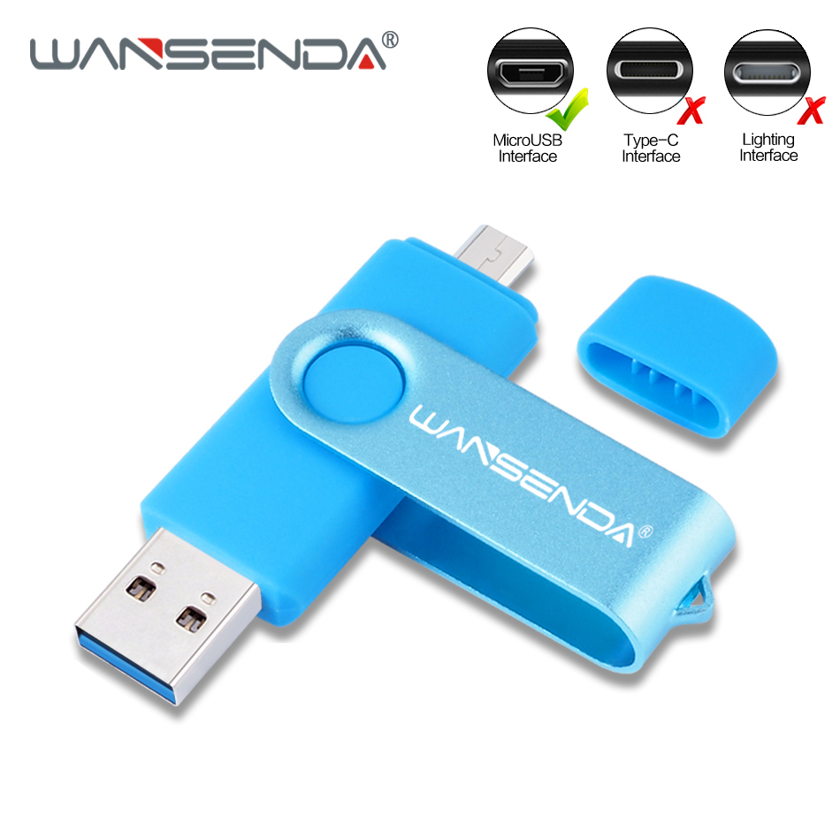 WANSENDA High Speed USB Flash Drive OTG Pen Drive 32gb Usb Flash Disk 64gb 128gb 256gb Usb Stick 3.0 Pendrive For Android Mobile