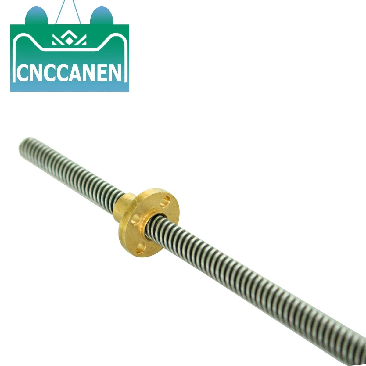 T6 Lead Screw 3D Printer 100mm~1000mm Picth 1mm Lead 1mm + Brass Nut