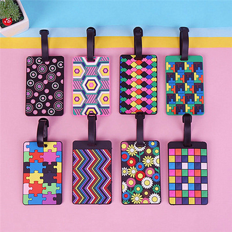 Cute Silicone Funky Trip Luggage Tags Straps Suitcase Luggage Tag Address Holder Identifier Label Travel Accessories New Arrival