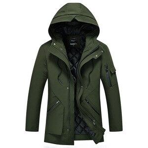 Image 3 - Зимняя бархатная Мужская парка с капюшоном, ветровка хорошего качества, толстая ветрозащитная Повседневная куртка для мужчин 2020, Теплая мужская парка 5XL