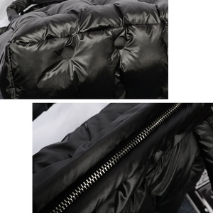 Image 5 - Зимние сумки 2019, вместительные хлопковые мешки с перьевым наполнителем, сумки на одно плечо, прокладка в стиле ретро, однотонная Сумка тоут, повседневная женская сумка мессенджер