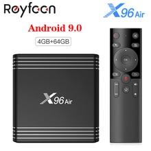 TV Box X96 Air, Android 9,0, 4K, TV Box con 4GB, 64GB, Amlogic S905X3, Quad Core, wi fi Dual 2,4 GHz, 5 GHz, BT4.1, 8K, compatible con Youtube, X96Air