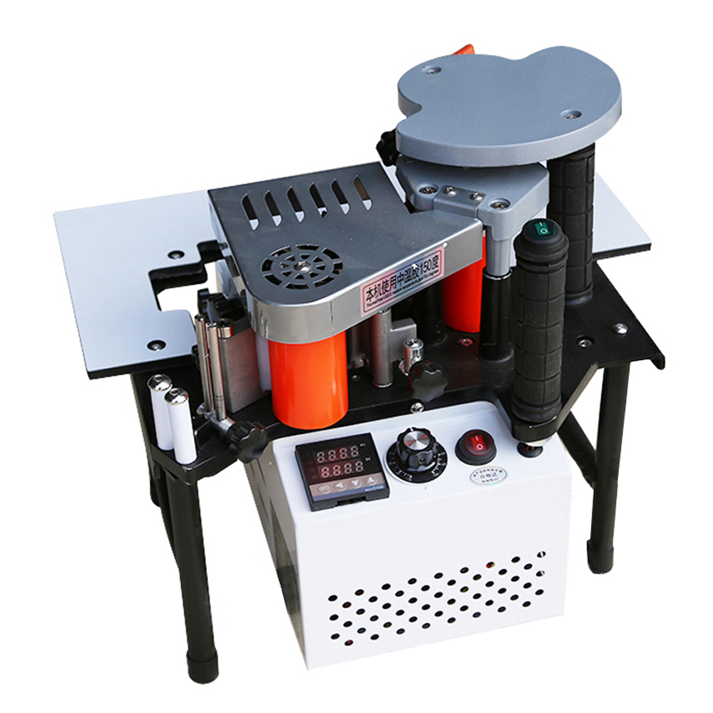 1200W Edge Banding Machines Manual Edge Banding Double Sided Straight Curve Wood Cut Adjust Speed Portable Edge Bander 110V 220V