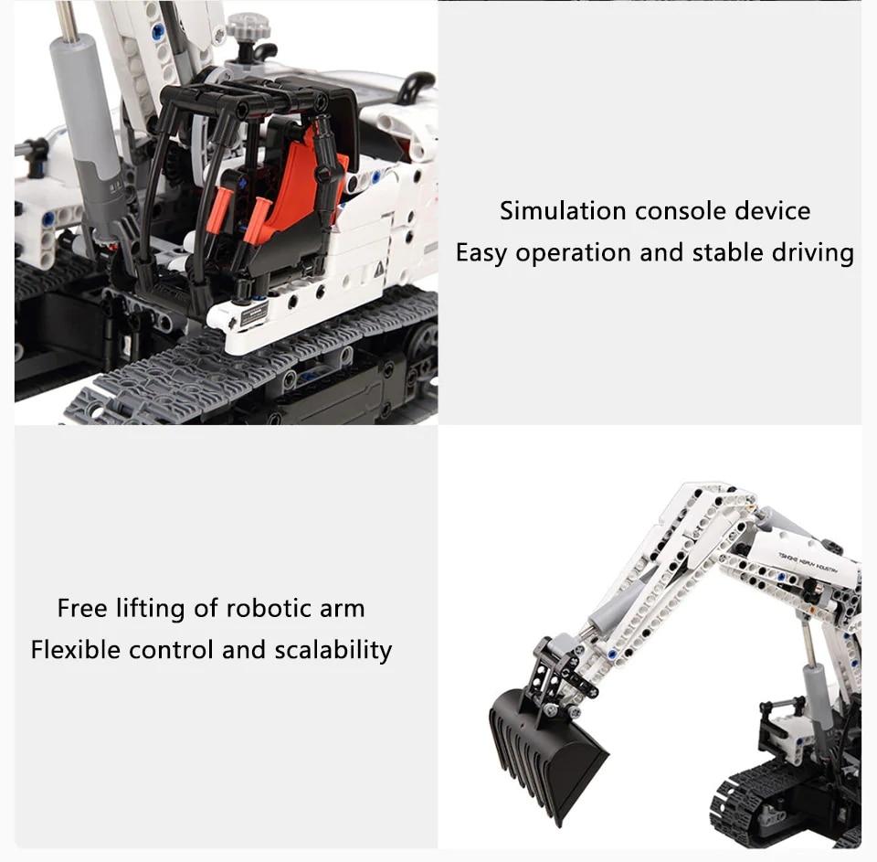 Xiaomi MITU Engineering Excavator Building Blocks Toy Kids Gift Crawler Simulation console Mechanical transmission 900+ parts (4)