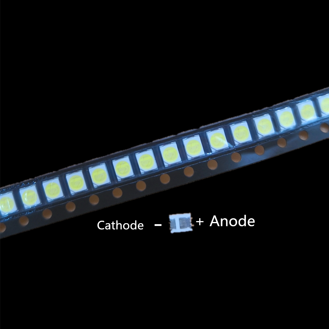 100pcs For LG High Power 2835 SMD LEDs Diodes Television Super Bright Diodo SMD LED 1210 3528 1W 100LM Cool White TV Backlight