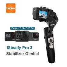 Hohem isconstante pro 3 3-axis cardan estabilizador cardan handheld para gopro 8 câmera de ação para gopro hero 8,7,6,5,4,3, osmo dji