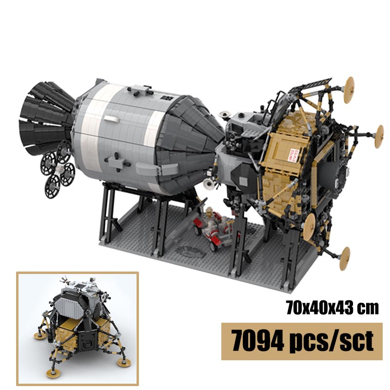 Creative Series Apollo 11 Stars plan Saturn V Apollo Spacecraft Compatible Lepining 26457 Building Blocks Birthday Gift Toys
