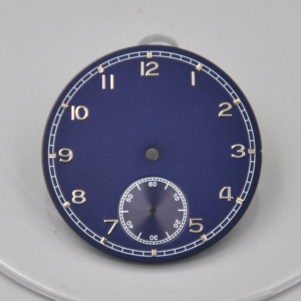 Corgeut mens fashtion Watch Parts 38.9mm blue Dial fit 6498 <font><b>st3600</b></font> Hand Winding Movement image