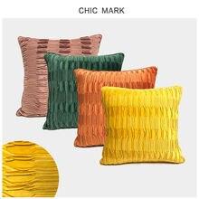 1 шт новые одноцветные наволочки для дивана смятые фланелевые