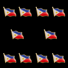 10PCS Asian Souvenirs Philippines Enamel Waving National Flag Brooch Tie Wearable Collectible Pin Badge Brooch japan national waving flag brooch brooch pin badge career suits tie clip bag accessories