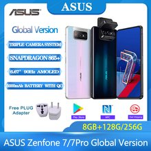 ASUS Zenfone 7/7 Pro versión Global 8GB RAM 128G/256GB ROM Snapdragon 865/865 más 5000mAh NFC Android Q 90Hz 5G teléfono inteligente