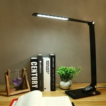 Office Lamp With Usb Charging Port,Led Desk Calender&Time&Alarm,For Home Lighting,Touch Control,3 Lighting Mode