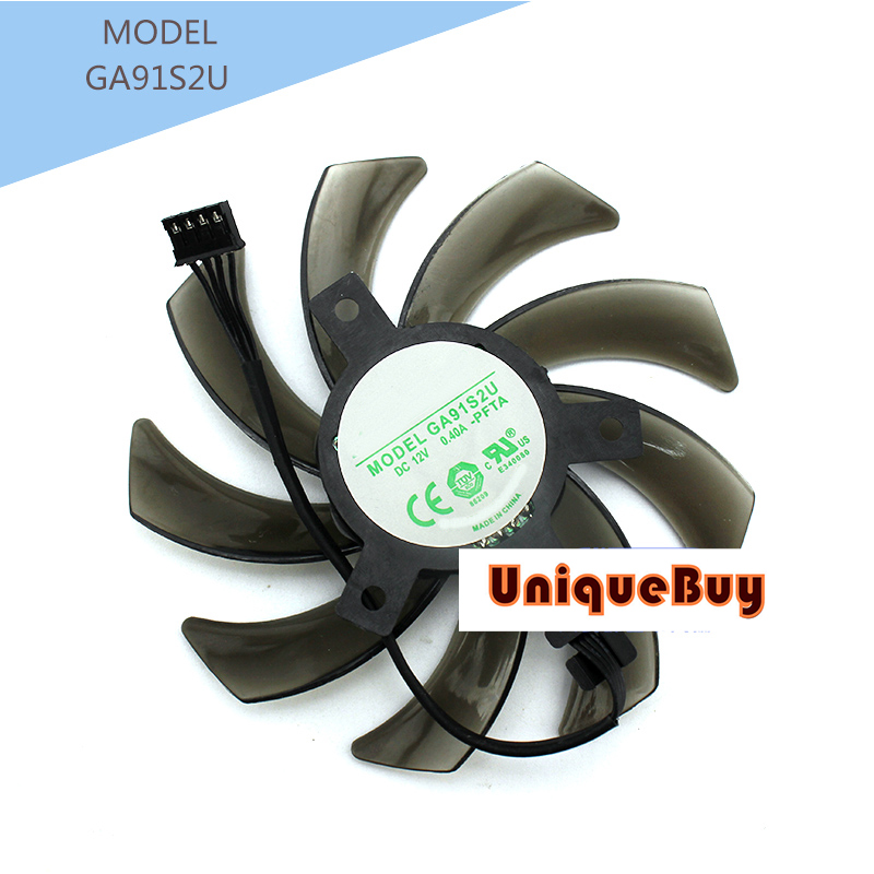 Processor Cooler For Palit GTX 1060 1070 1070Ti 3G 6G 8G P106-100 Graphics Card Fan GA91S2U image